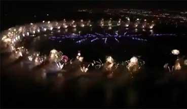بالفيديو .. عرض دبي للألعاب النارية بمناسبة عيد رأس السنة الميلادية 2014
