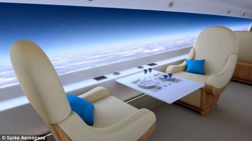 بدلاً من النوافذ شاشات في الطائرة!