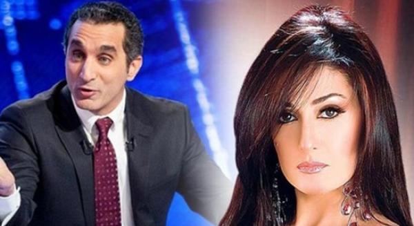 غاده عبدالرزاق تدعو باسم يوسف للصلح وباسم يتجاهلها