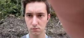 بالفيديو : مراهق ينجو من قطار كاد يفصل رأسه