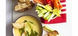 الصلصة الساخنة:مخفوق الجبن السويسري