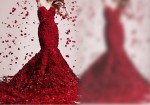 فستان احمر مميز