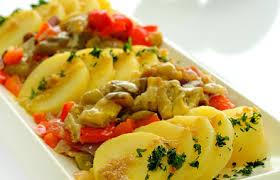 البطاطس والباذنجان المشوي